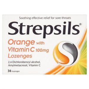 Strepsils Orange and Vitamin C 36 Pack