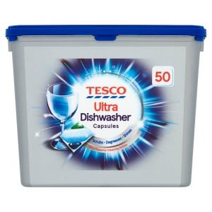 Tesco 50 Ultra Original Dishwasher Capsules 710g