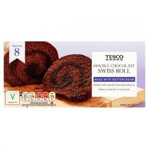 Tesco Double Chocolate Swiss Roll