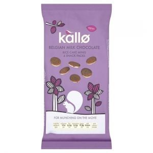 Kallo Belgian Milk Chocolate Mini Rice Cakes 4X21g