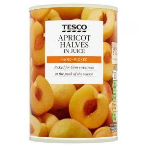 Tesco Apricot Halves In Juice 411g