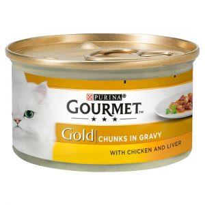 Gourmet Gold Chicken & Liver In Gravy 85g