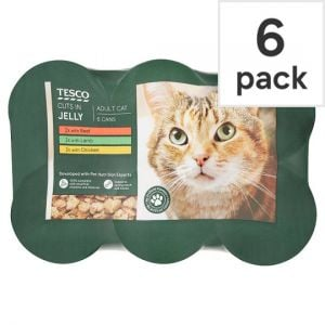 Tesco Cuts In Jelly Selection Tinned Cat Food 6 X400g