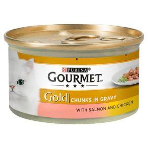 Gourmet Gold Salmon & Chicken In Gravy 85g
