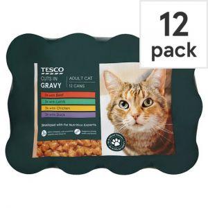 Tesco Cuts In Gravy Tinned Cat Food 12 X400g