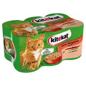 Kitekat Megamix Jelly Tinned Cat Food 6 X400g