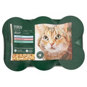 Tesco Fish Selection Tinned Cat Food 6 X400g
