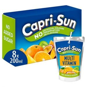 Capri Sun No Added Sugar Multi Vitamin Juice 8X200ml