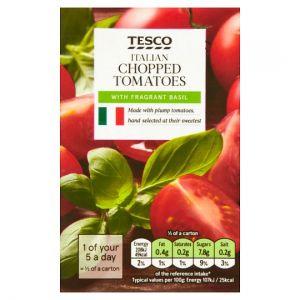 Tesco Italian Chopped Tomatoes With Basil 390g