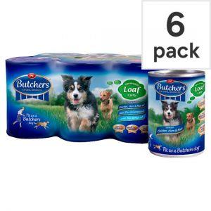 Butchers Choice Recipes Tinned Dog Food 6 X390g