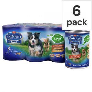 Butchers Original Recipes Dog Food Tins 6 X400g