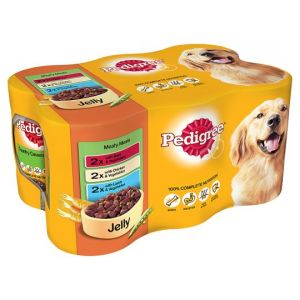 Pedigree Can Meat Jelly Dog Food Tins 6X400g