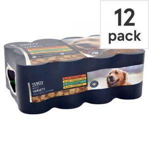 Tesco Mixed Variety Tinned Dog Food 12 X400g