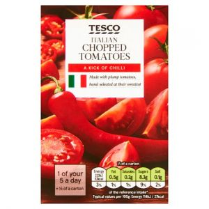 Tesco Italian Chopped Tomatoes With Chilli 390g