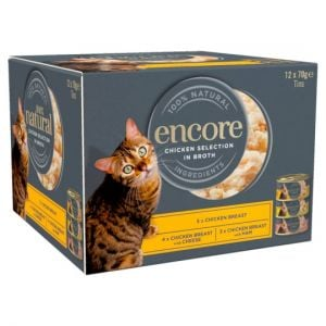 Encore Cat Food Chicken Selection Tins 12X70g
