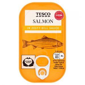 Tesco Skinless & Boneless Salmon In Zesty Dill Sauce 125g