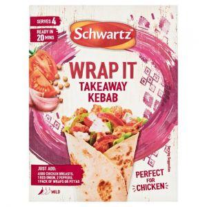 Schwartz Wrap It Takeaway Kebab 30g