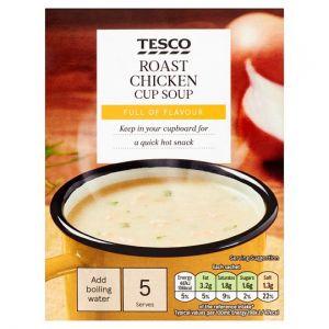 Tesco Roast Chicken Soup In A Mug 5 Pack (5X26) 130g