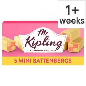 Mr Kipling Mini Battenberg Cakes 5 Pack