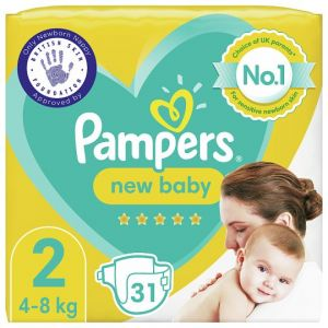 Pampers New Baby Size 2 31 Nappies