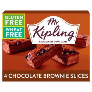 Mr Kipling Gluten Free Brownie Slice 4 Pack