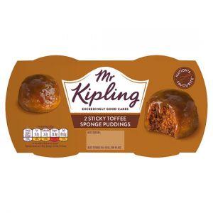 Mr.Kipling Sticky Toffee Sponge Puddings 2X95g