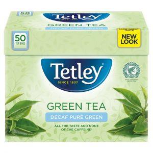 Tetley Green Tea Decaffeinated 50 Tea Bags 100g