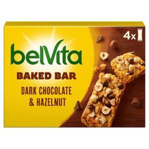 Belvita Dark Chocolate & Hazelnut Baked Bar 4X 40g