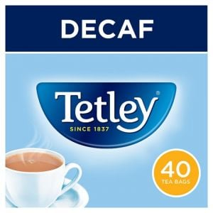 Tetley Decaffeinated 40 Tea Bags 125g