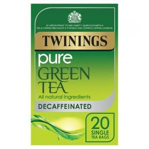 Twinings Green Tea Decaffeinated 20 Tea Bags 40g