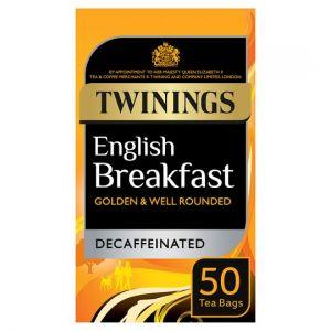 Twinings Breakfast Decaffeinated 50 Tea Bags 125g