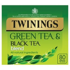 Twinings Green Tea Black Blend 80 Tea Bags