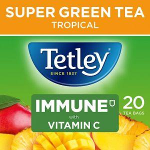 Tetley Super Green Immune Mango and Pineapple 20S 40g