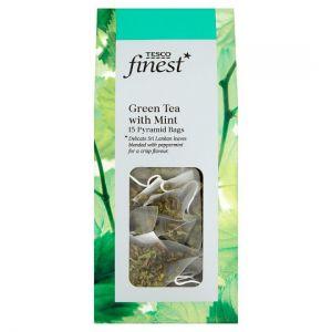 Tesco Finest Green Tea Mint 15 Tea Bags 30g