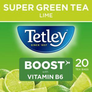 Tetley Super Green Boost Lime 20S 40g