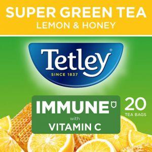 Tetley Super Green Immune Lemon and Honey 20S 40g