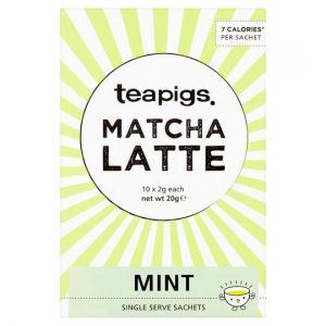 Teapigs Matcha Latte Mint Sachets 10 X 2g