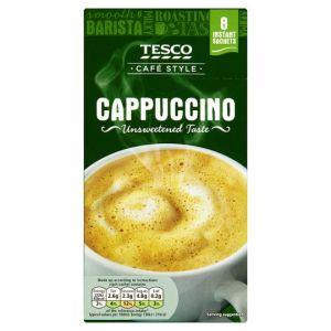Tesco Unsweetened Cappuccino 8 Sachets 113g