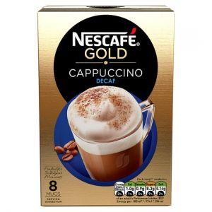 Nescafe Gold Decaffeinated Cappuccino 8 Sachets 120g