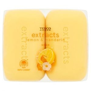Tesco Extracts Lemon & Mandarin Soap 4X125g