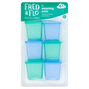 Fred & Flo 6 Mini Weaning Freezer Pots