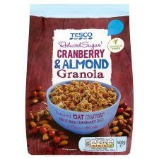 Tesco Reduced Sugar Cranberry and Almond Granola 500g