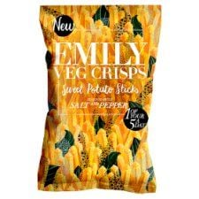 Emily Crisps Salt and Pepper Sweet Potato 100g