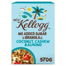 Wk Kelloggs No Added Sugar Coconut Granola 570g