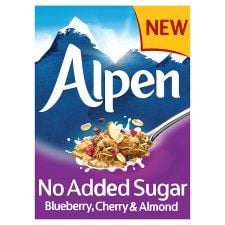 Alpen No Added Sugar Blueberry Cherry and Almond Muesli 560g