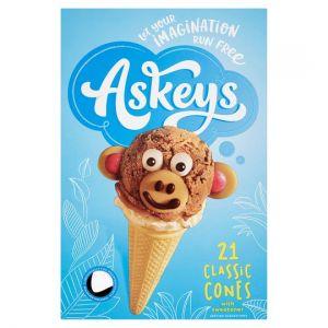 Askeys Round Icecream Cones 21Pk