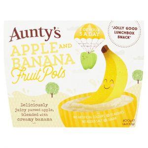 Auntys Fruit Pot Apple and Banana 4 Pack