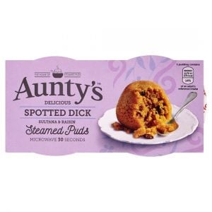 Auntys Spotted Dick Puddings 2 Pack 190g