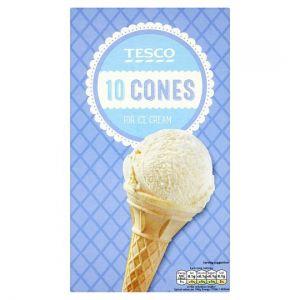 Tesco 10 Pack Ice Cream Cones