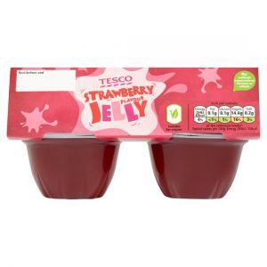 Tesco Strawberry Jelly 4X120g